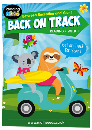 summer reading catch-up Week 1 for kindergarten to Year 1