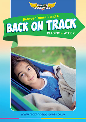 summer reading catch-up Week 2 for Year 3 to Year 4