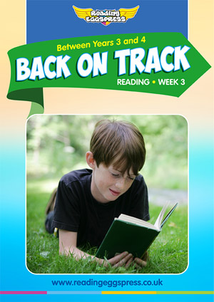summer reading catch-up Week 3 for Year 3 to Year 4