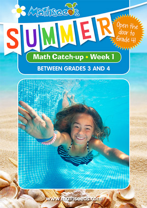 summer mathematics catch-up Week 1 for grade 3 to grade 4