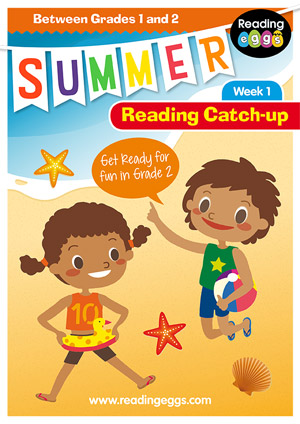 summer reading catch-up Week 1 for grade 1 to grade 2