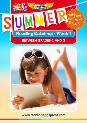 summer reading catch-up Week 1 for grade 2 to grade 3