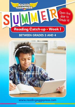 summer reading catch-up Week 1 for grade 3 to grade 4