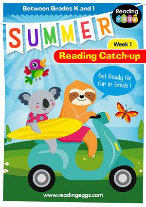 summer reading catch-up Week 1 for kindergarten to grade 1