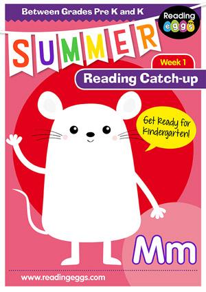 summer reading catch-up Week 1 for pre kindergarten