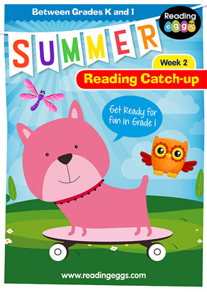 summer reading catch-up Week 2 for kindergarten to grade 1