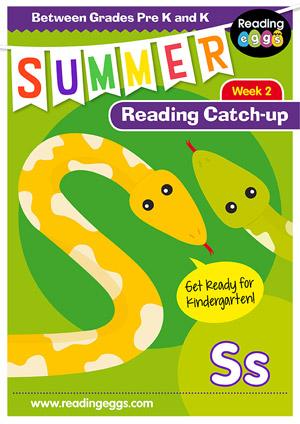 summer reading catch-up Week 2 for for pre kindergarten